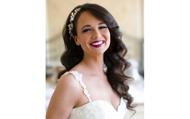 Classic Hollywood Glamour Hairstyle for bridal in wedding