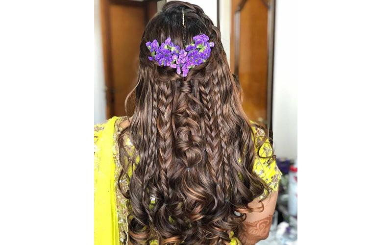 Free Flowing Locks Bridal Hairstyl