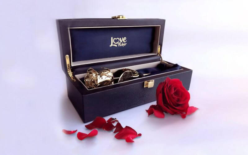 24 Karat Gold-Dipped Natural Rose Gift Ideas for Wedding Anniversary of Your Wife