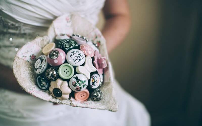 Best Button Bouquet for Wedding
