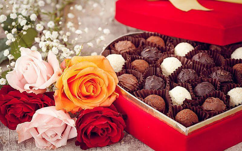 Chocolates and Flowers Anniversary Gift Ideas