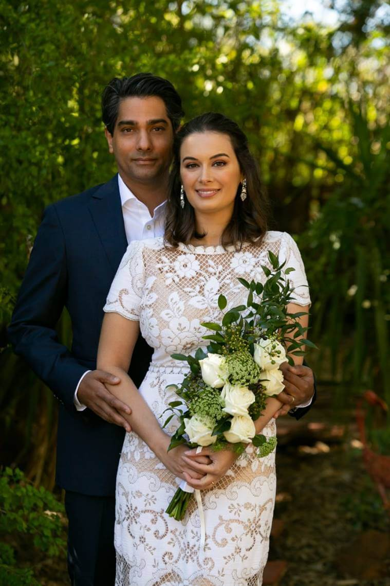 actor Evelyn Sharma marriage photos