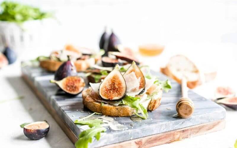 Fresh Fig Bruschetta Wedding Snack