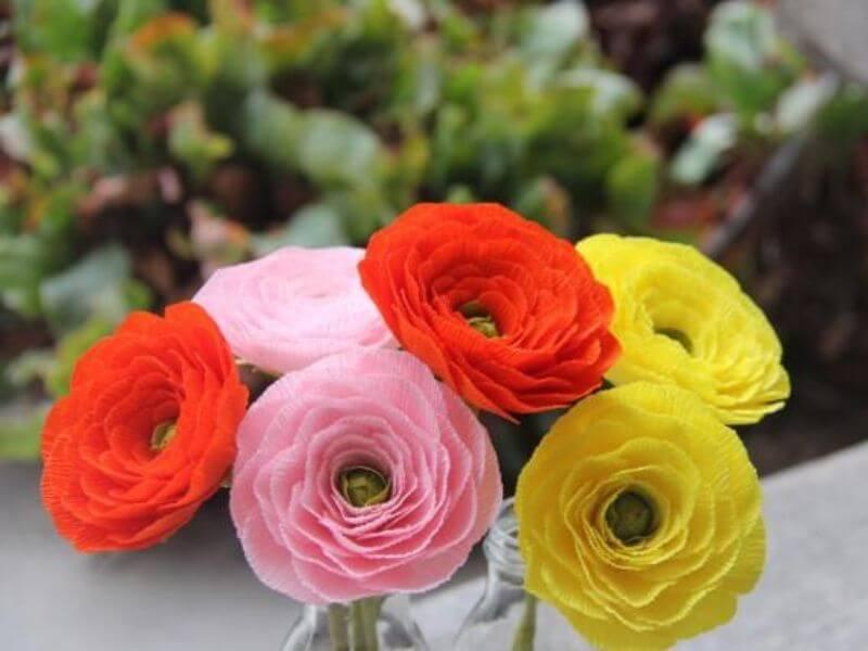 Colorful Wedding Flower Papery Ranunculus