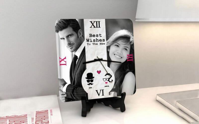 Personalized Clock Wedding Anniversary Gift Idea