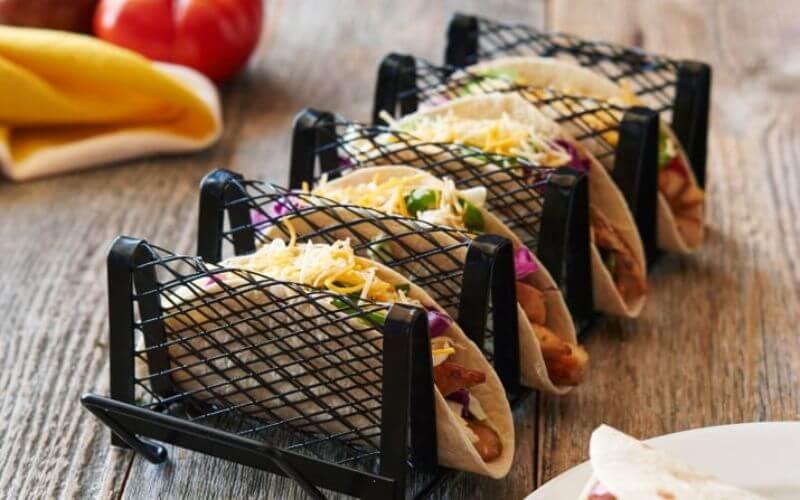 Taco Table - Midnight Wedding Snack Ideas