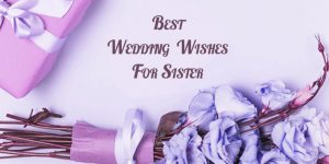 110 Best Wedding Wishes for Sister