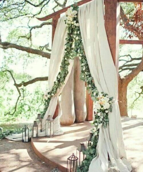 An outstanding wedding reception area