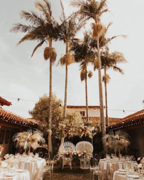 Beach wedding with a romantic boho vibe