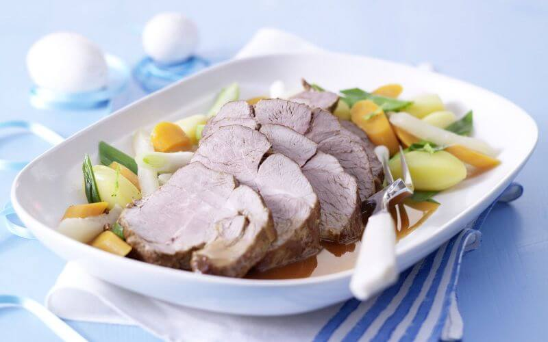 Braised Lamb with a Garden-Vegetable