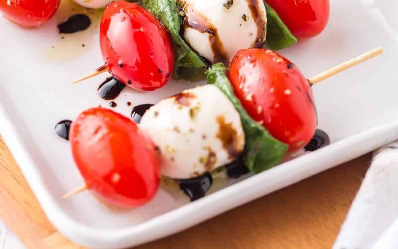Caprese skewers - Wedding reception food menu ideas