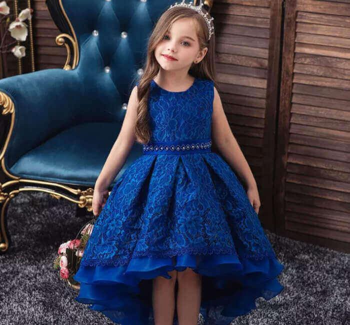 Flower girl in something blue