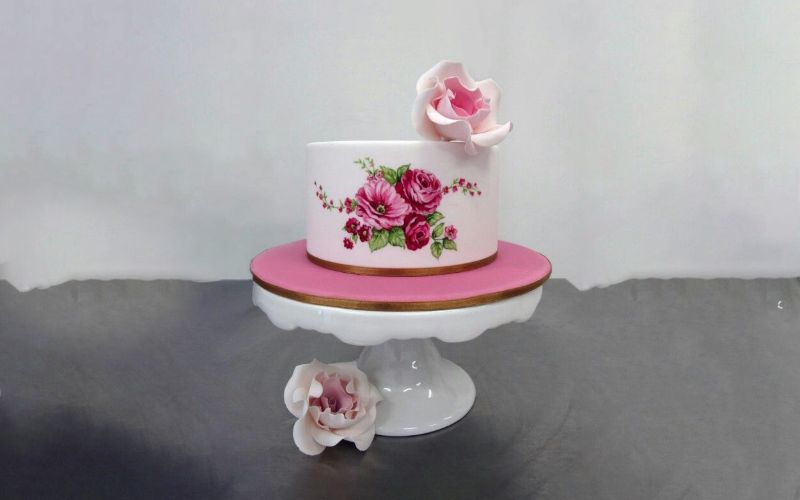 How About Incorporating Hand-Painted flowers