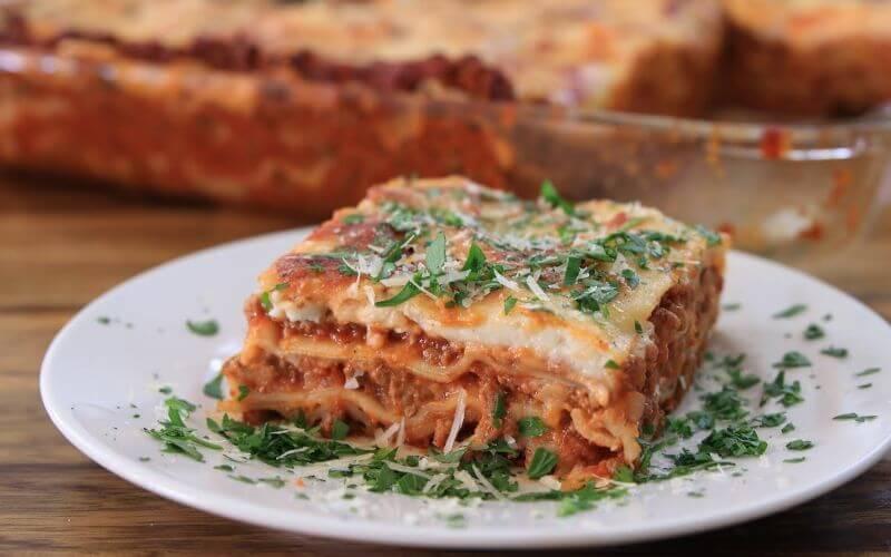 Lasagna wedding reception entree food menu