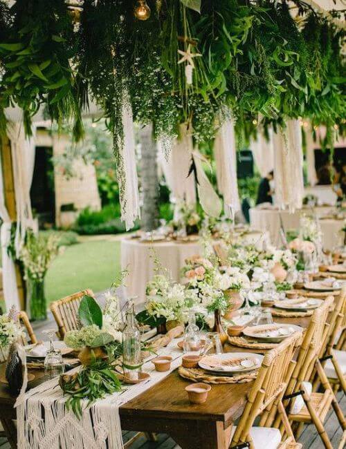 Make the best use of green - Bohemian Wedding