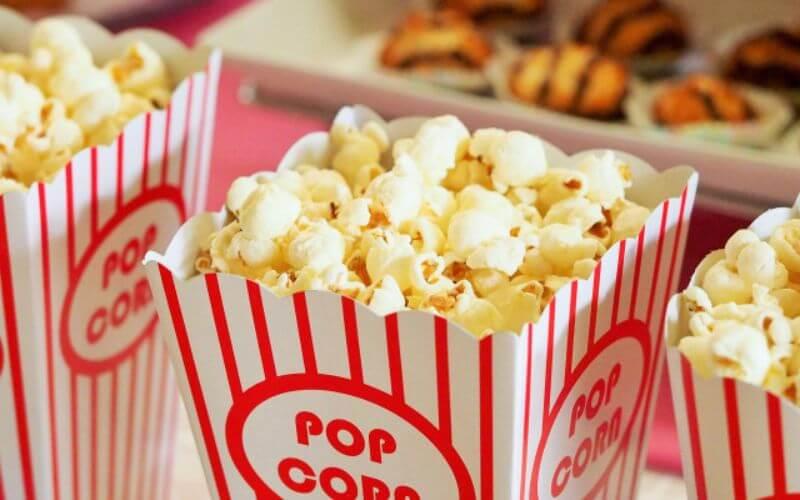 Popcorn station - Wedding reception menu ideas