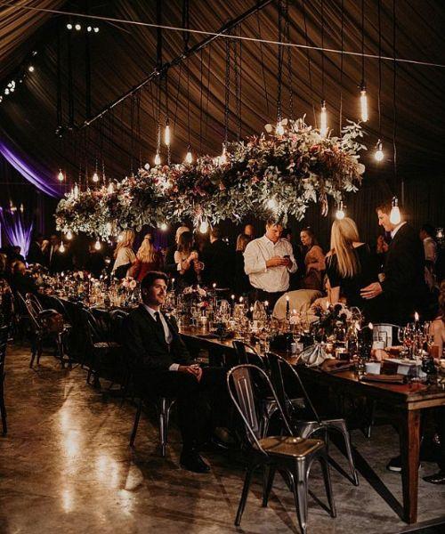 Wedding reception in a chic boho style