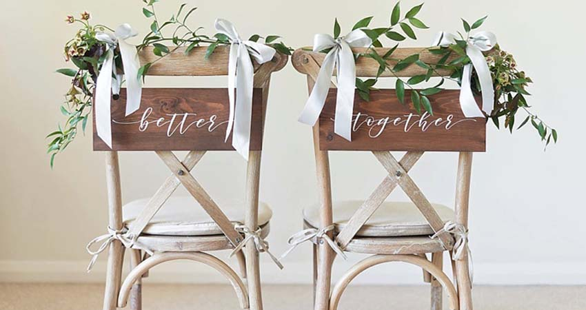 Chair Decorations for Newlyweds