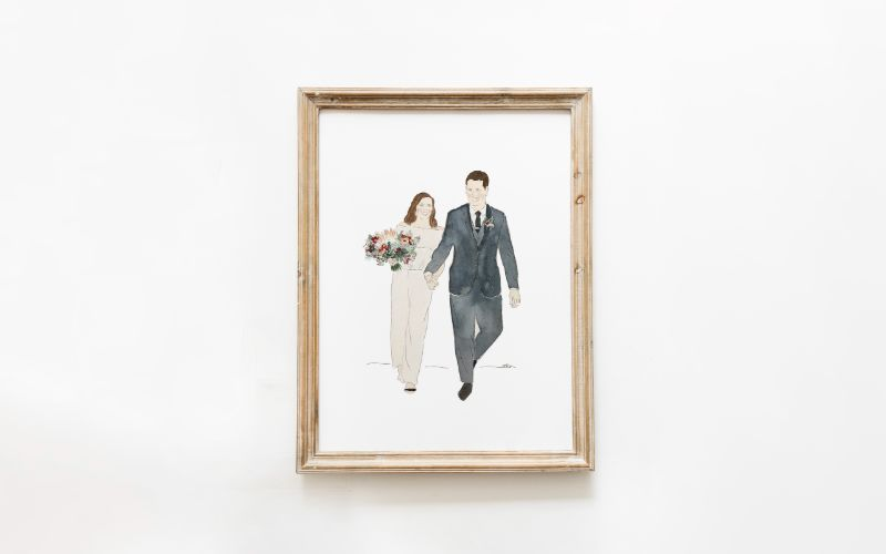 Custom Water Color Painting Eco-Friendly Wedding Gift