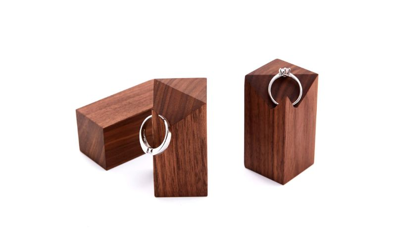 Eco-Friendly Wooden Ring Holder Wedding Gift Ideas