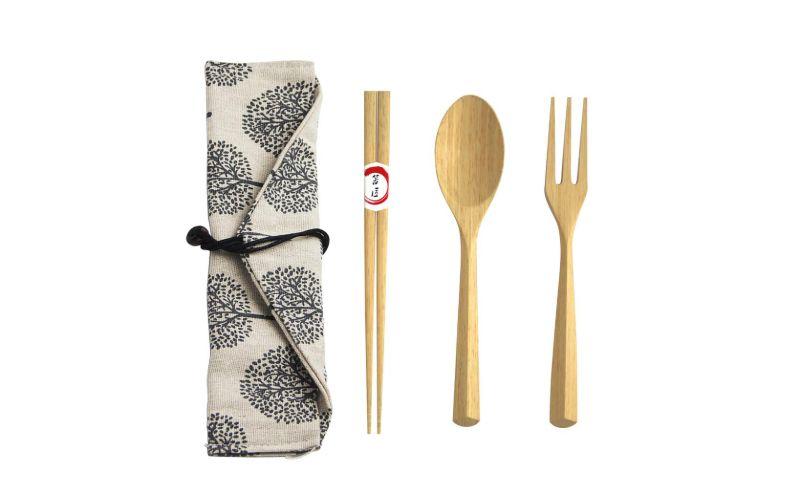 Eco Wooden Bamboo Cutlery Set Wedding Gift Ideas