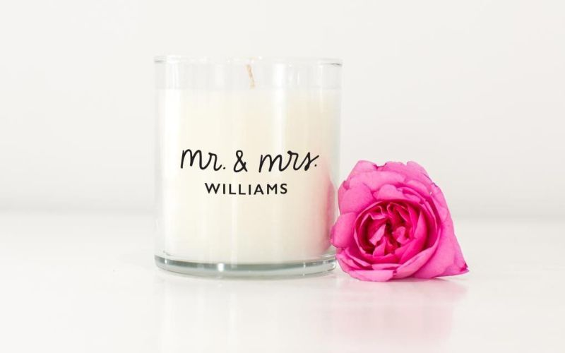 Personalized candle eco-friendly wedding gift