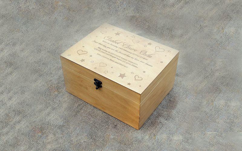 Wooden Memory Box Eco-Friendly Wedding Gift Ideas