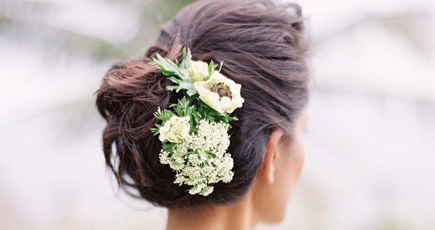 Flowers for Your Bridal Hairstyle