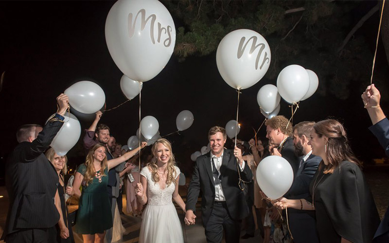 Make Your Exit Grand with Balloons