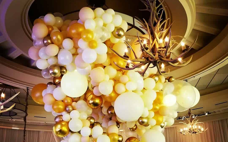 Make an Impact with Balloon Chandelier