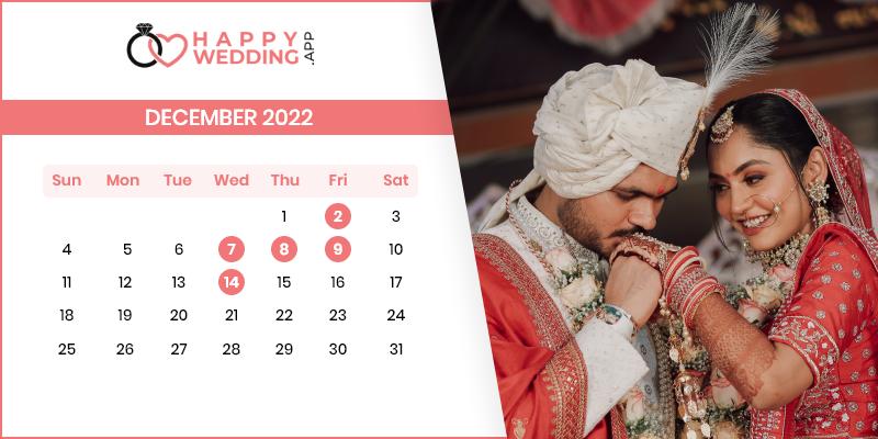 Best Wedding Dates in December 2022