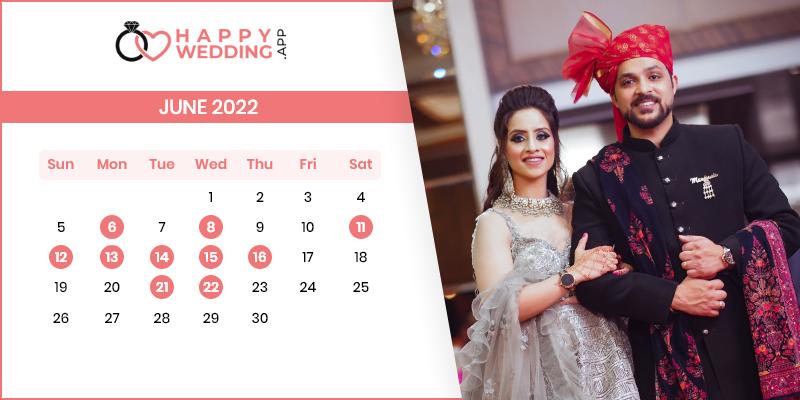 Best Wedding Dates in June 2022
