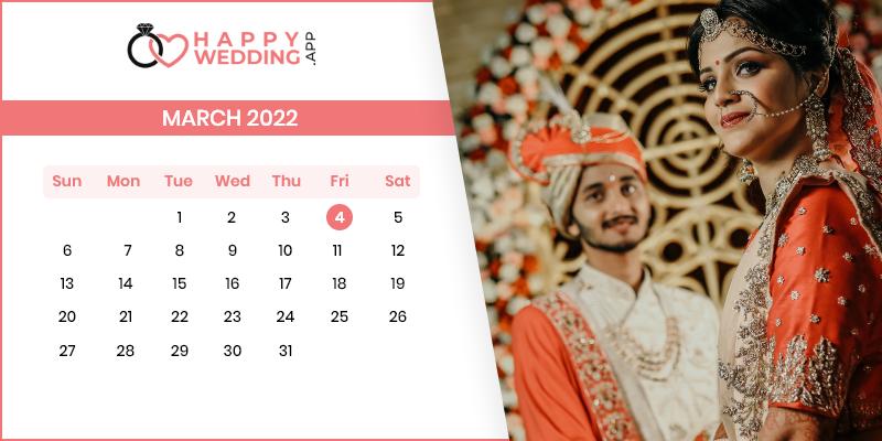 Best Wedding Dates in March 2022