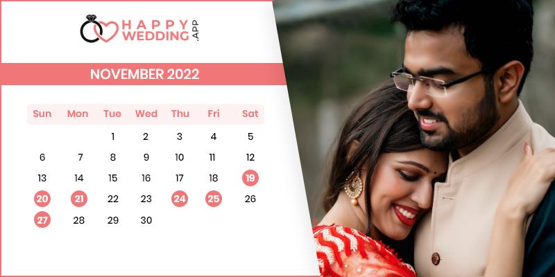 Best Wedding Dates in November 2022