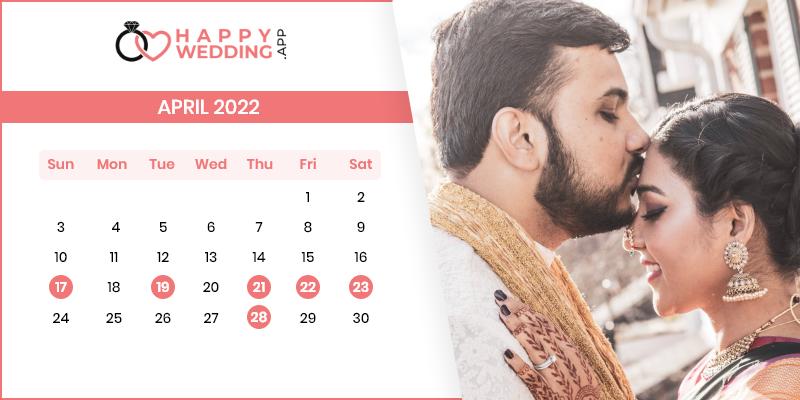 Best Wedding Dates in April 2022