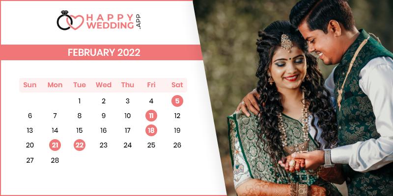 Best Wedding Dates in February 2022