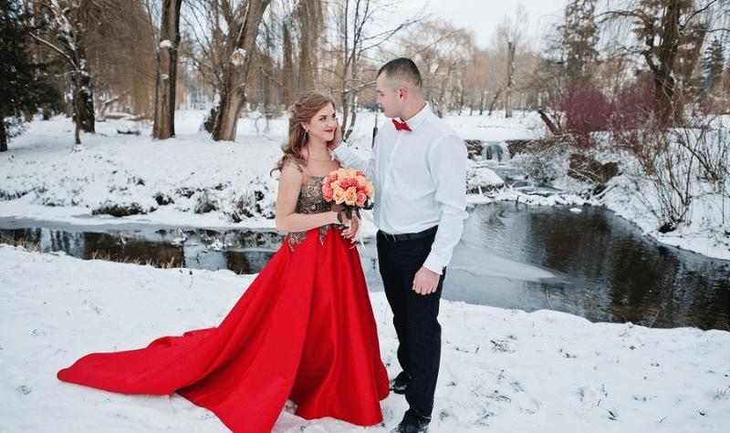 Valentine's Day Wedding Attire